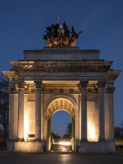 Exterior of Wellington Arch at Night, Hyde Park Corner, London, England, United Kingdom, Europe-Ben Pipe-Photographic Print
