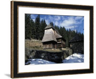 Exterior of Wooden Ruthenian Orthodox Church in Village of Zuberec, Zilina Region, Slovakia-Richard Nebesky-Framed Photographic Print