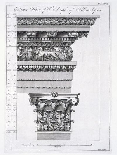 Exterior Order of the Temple of Aesculapius, Plate XLVII-Robert Adam-Giclee Print