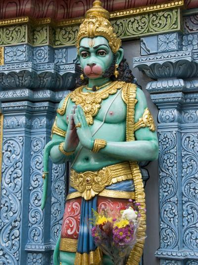 Exterior Statue of the Hindu Monkey God Hanuman, Sri Krishna Bagawan Temple, Singapore-Richard Maschmeyer-Photographic Print