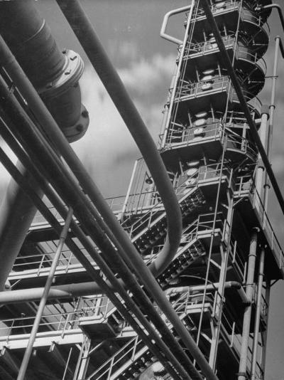 Exterior View of a Refinery and Factory-Andreas Feininger-Photographic Print