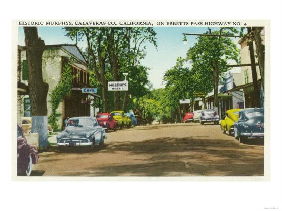 Exterior View of Historic Murphy's Hotel - Calaveras County, CA-Lantern Press-Art Print