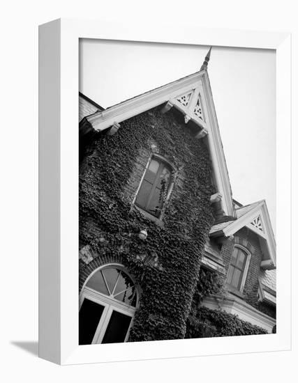 Exterior View of Ivy-Covered Brick House, Ustasia, in the Hudson River Valley-Margaret Bourke-White-Framed Stretched Canvas Print
