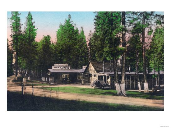 Exterior View of Loch Lomond Resort - Lake County, CA-Lantern Press-Art Print