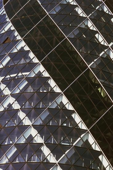 Exterior View of Mirrored Windows of 30 St Mary Axe, Formerly known as Swiss Re Building--Giclee Print