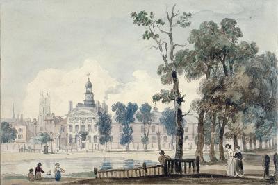 Exterior View of Old Bethlehem Hospital, Moorfields, City of London, 1811-George Arnald-Giclee Print