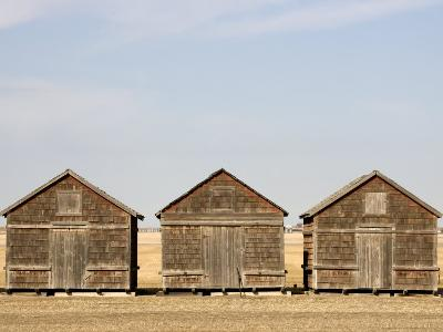 Exterior View of Old Granaries, Saskatchewan, Canada-Pete Ryan-Photographic Print