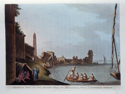Exterior View of the Ancient Wall of Alexandria, with Cleopatra's Needle, 1802-Thomas Milton-Giclee Print