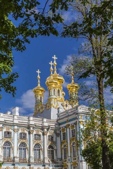 Exterior View of the Catherine Palace, Tsarskoe Selo, St. Petersburg, Russia, Europe-Michael Nolan-Photographic Print