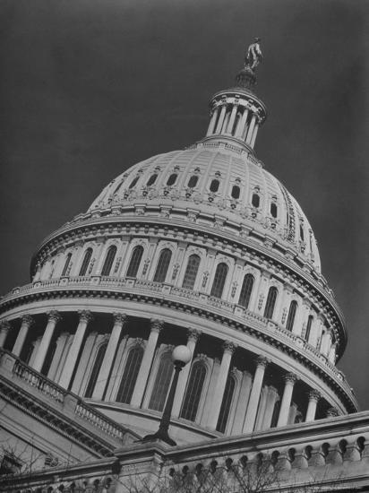 Exterior View of the Dome of the Us Capitol Building-Margaret Bourke-White-Photographic Print