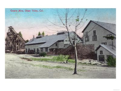 Exterior View of the Empire Mine - Grass Valley, CA-Lantern Press-Art Print