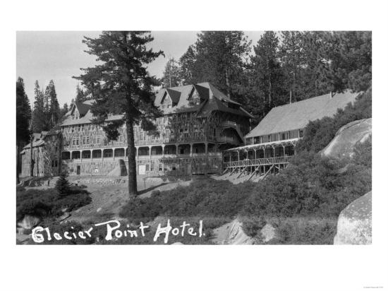 Exterior View of the Glacier Point Hotel - Yosemite National Park, CA-Lantern Press-Art Print