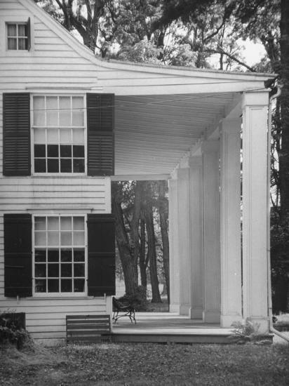 Exterior View of the House of Revolutionary War General Philip Schuyler, Hudson River Valley-Margaret Bourke-White-Photographic Print