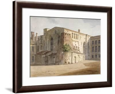 Exterior View of the Painted Chamber, Palace of Westminster, London, C1805-Frederick Nash-Framed Giclee Print