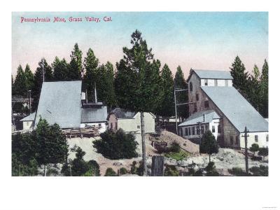 Exterior View of the Pennsylvania Mine - Grass Valley, CA-Lantern Press-Art Print
