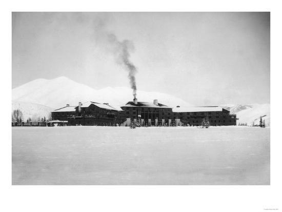 Exterior View of the Sun Valley Lodge - Ketchum, ID-Lantern Press-Art Print