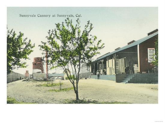 Exterior View of the Sunnyvale Cannery - Sunnyvale, CA-Lantern Press-Art Print