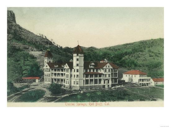 Exterior View of Tuscan Springs - Red Bluff, CA-Lantern Press-Art Print