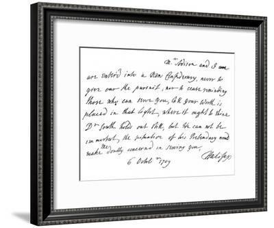 Extract of a Letter from Lord Halifax to Dean Swift, with Promises of Promotion, 1709-Charles Montague-Framed Giclee Print