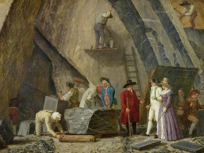 Extracting Sainte-Anne Marble from a Quarry-Leonard Defrance-Giclee Print