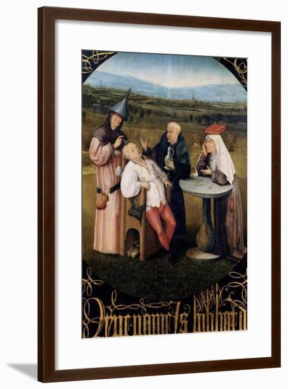 Extraction of the Stone of Madness-Hieronymus Bosch-Framed Art Print