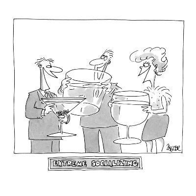 """Extreme Socializing"" - Cartoon-Jack Ziegler-Premium Giclee Print"