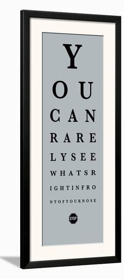 Eye Chart II-The Vintage Collection-Framed Art Print