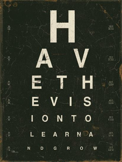 Eye Chart Iv Art Print By Jess Aiken Art