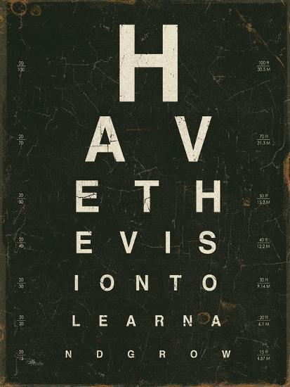 Eye Chart IV-Jess Aiken-Art Print