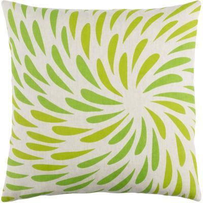 Eye of the Storm Poly Fill Pillow - Lime