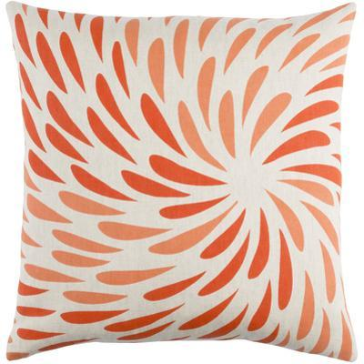 Eye of the Storm Poly Fill Pillow - Poppy