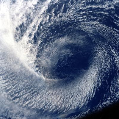Eye of Tropical Storm 'Blanca' Photographed Between 17 and 24 June 1985--Photographic Print