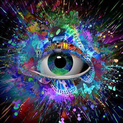 Eye Paint Splash-reznik_val-Art Print