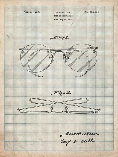Eyeglasses Spectacles Patent-Cole Borders-Art Print