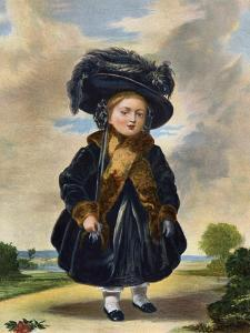 Queen Victoria (1819-190) Aged Four Years Old, 19th Century by Eyre & Spottiswoode