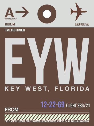 EYW Key West Luggage Tag II-NaxArt-Art Print