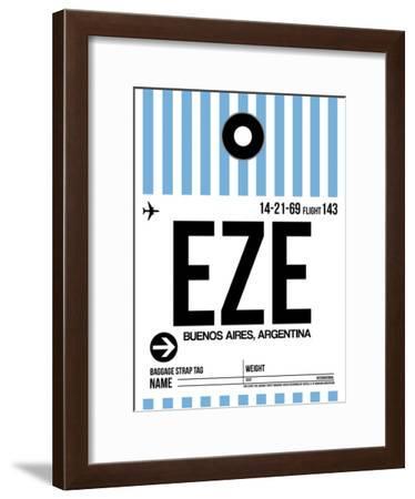 EZE Buenos Aires Luggage Tag I-NaxArt-Framed Art Print