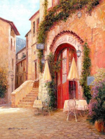 Eze Village Café, France-Haixia Liu-Art Print