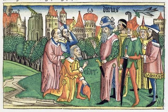 Ezra 6:16: the Temple of Jerusalem is dedicated by King Darius-Unknown-Giclee Print