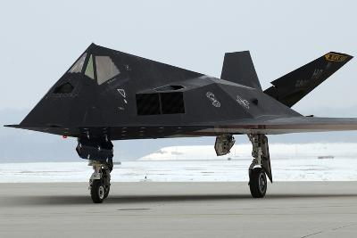 F-117 Nighthawk Stealth Fighter at its Retirement Ceremony, Ohio, 2009--Photo
