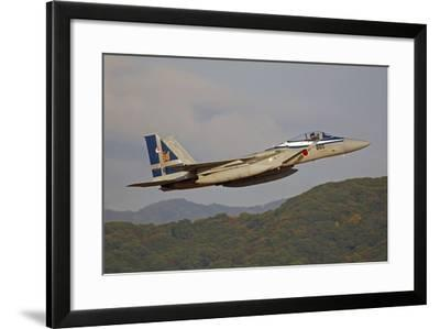 F-15J Eagle of the Japan Air Self Defense Force's Hiko Kyodatai Aggressor Squadron-Stocktrek Images-Framed Photographic Print