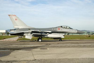 F-16A Mlu Falcon from the Royal Danish Air Force Taxiing at Grosseto Air Base-Stocktrek Images-Photographic Print