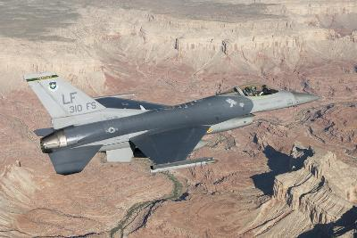 F-16C Fighting Falcon Flying over the Grand Canyon, Arizona--Photographic Print