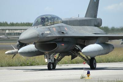 F-16D from the Hellenic Air Force Armed with Agm-88 Harm Missile-Stocktrek Images-Photographic Print