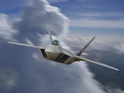 F-22 Rapter Flying over Sacramento, California-Stocktrek Images-Photographic Print