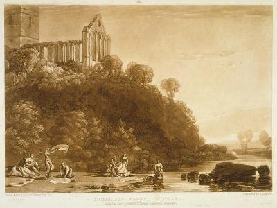 F.56.Ii Dumblain Abbey, from the 'Liber Studiorum', Engraved by Thomas Lupton, 1816-J^ M^ W^ Turner-Giclee Print