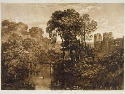F.58.I Berry Pomeroy Castle, from the 'Liber Studiorum', Engraved by the Artist, 1816-J^ M^ W^ Turner-Giclee Print
