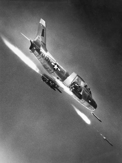 F-86 Jet Fighter Plane--Giclee Print