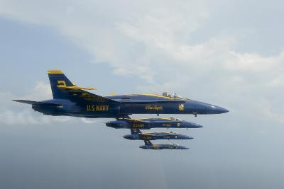 F-A-18 Hornets from the U.S. Navy Blue Angels Team--Photographic Print
