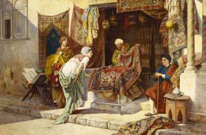 The Carpet Merchant by F^ Ballesio